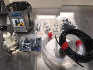 kleenconnect forklift entryway sanitizing system