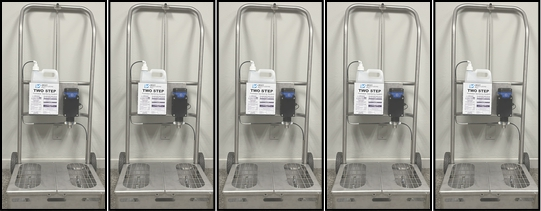 Two Step Entryway Sanitizing System